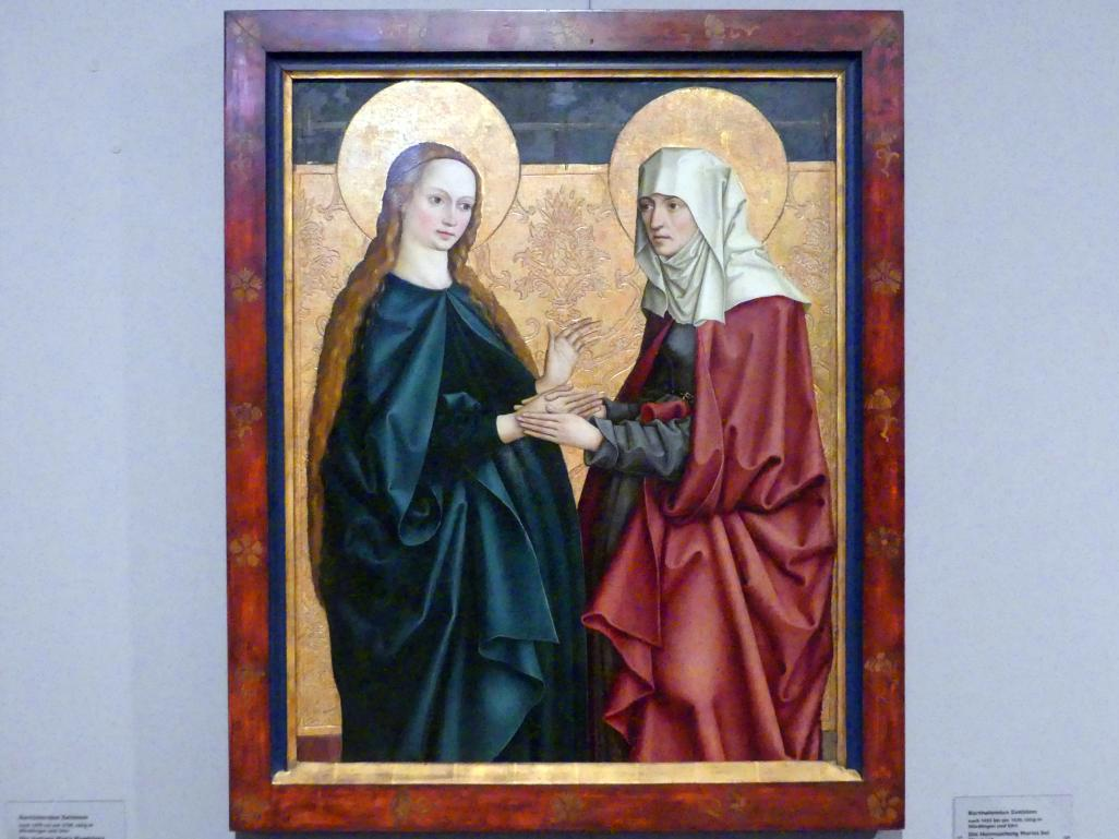 Bartholomäus Zeitblom: Die Heimsuchung Marias bei Elisabeth, Um 1490