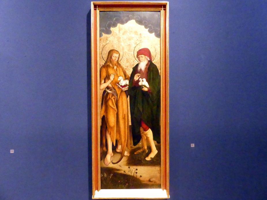 Hans Strüb: Inzigkofener Altar: Johannes der Täufer und Joachim, 1505