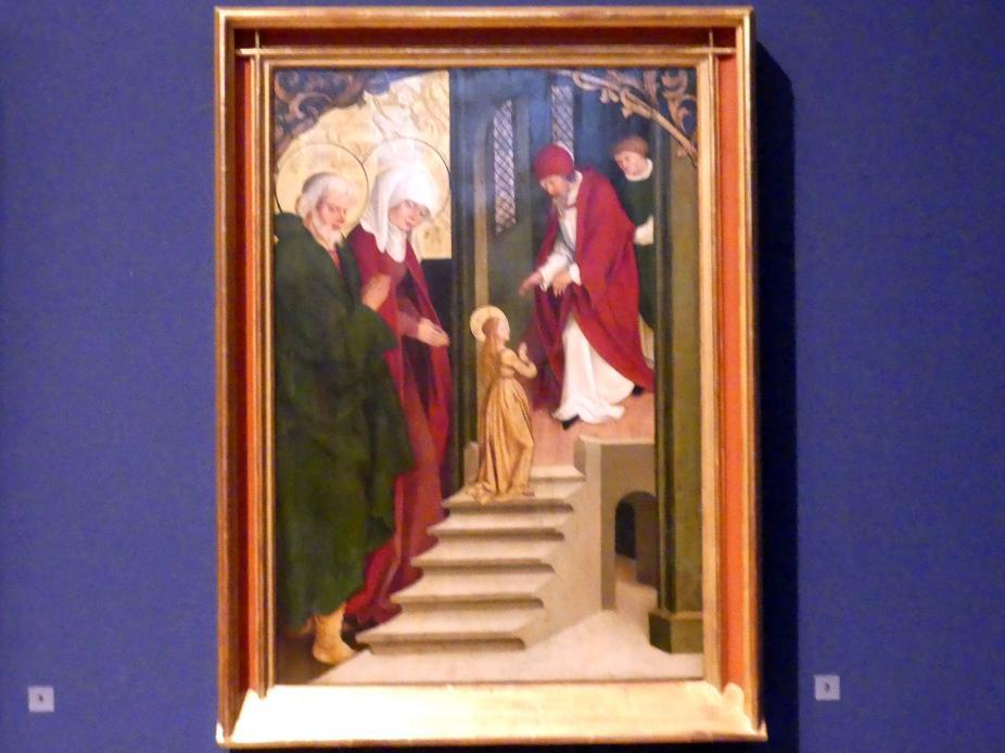 Hans Strüb: Inzigkofener Altar: Der Tempelgang Mariae, 1505