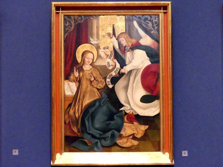 Hans Strüb: Inzigkofener Altar: Die Verkündigung an Maria, 1505