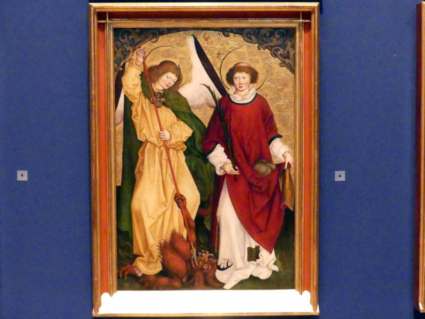 Hans Strüb: Inzigkofener Altar: Die Heiligen Michael und Stephanus, 1505
