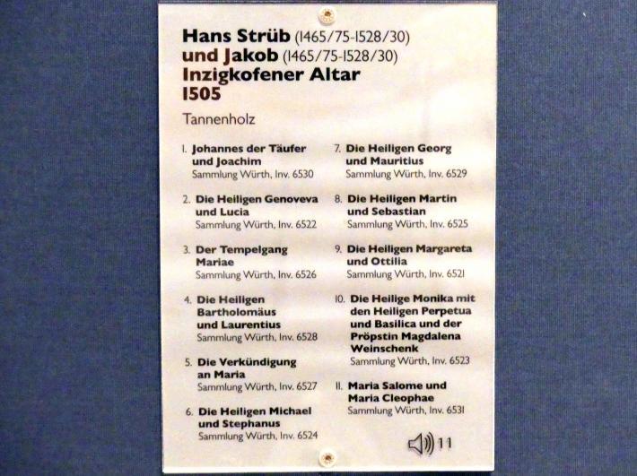 Hans Strüb: Inzigkofener Altar: Die Heiligen Michael und Stephanus, 1505, Bild 2/2