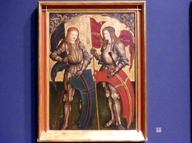 Hans Strüb: Inzigkofener Altar: Die Heiligen Georg und Mauritius, 1505