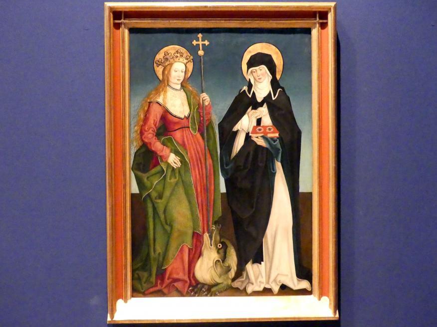 Hans Strüb: Inzigkofener Altar: Die Heiligen Margareta und Ottilia, 1505