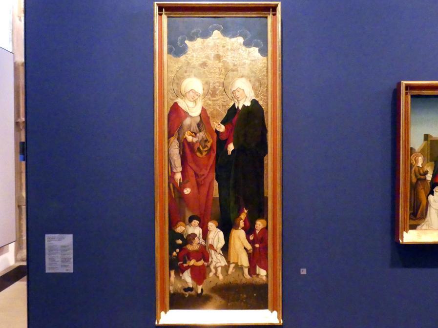 Hans Strüb: Inzigkofener Altar: Maria Salome und Maria Cleophae, 1505