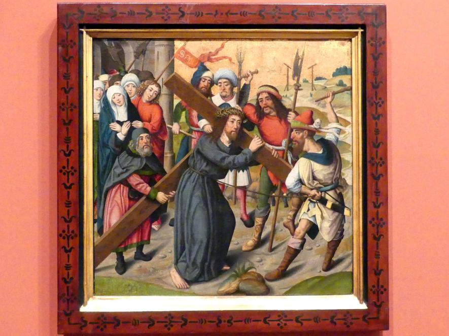Meister der Aachener Schranktüren (Umkreis): Die Kreuztragung Christi, um 1490