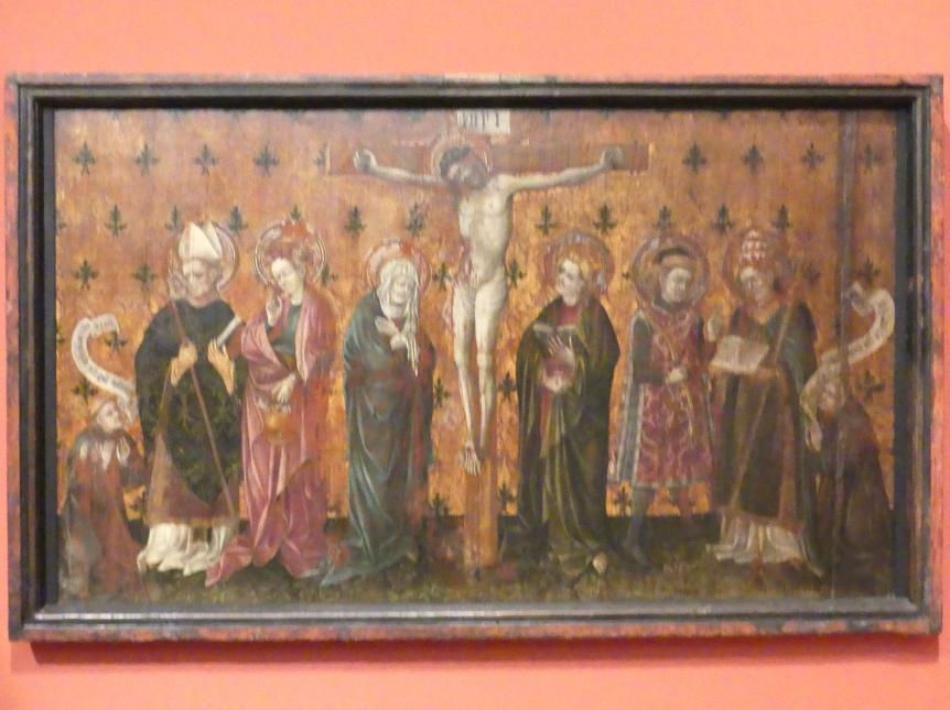 Die Kreuzigung Christi mit vier Heiligen und zwei Stiftern, um 1430