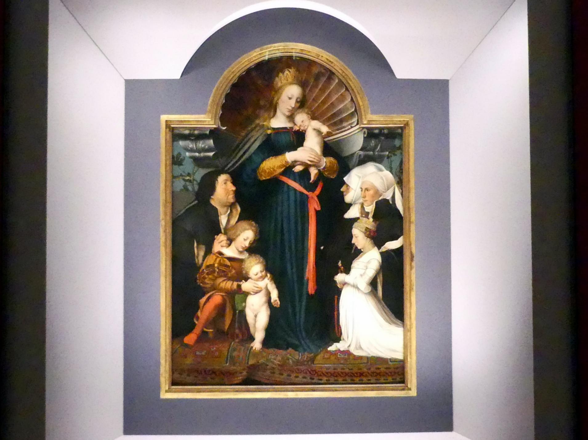 Hans Holbein der Jüngere: Madonna des Bürgermeisters Jacob Meyer zum Hasen, 1525 - 1528