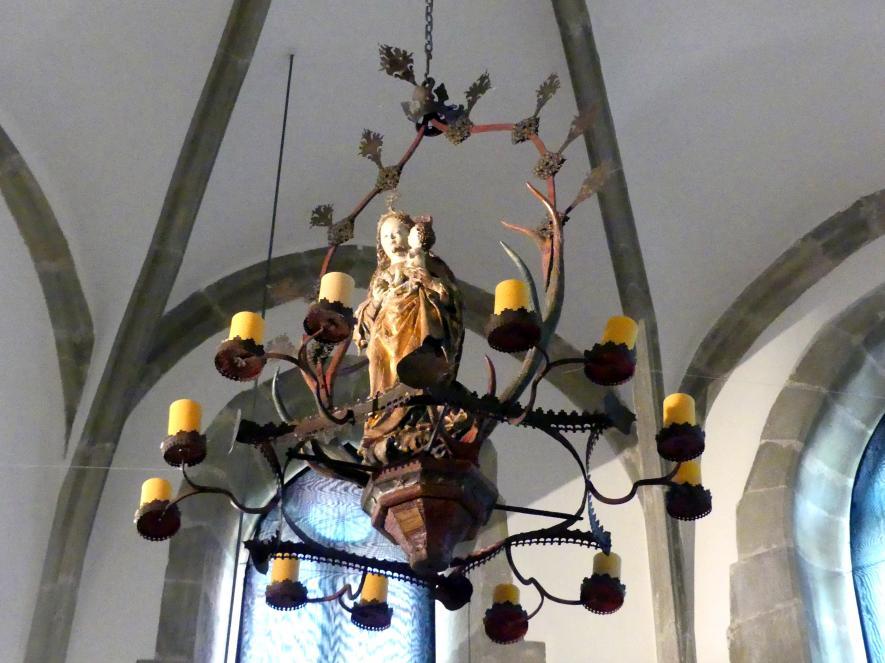 Geweihkrone mit Muttergottes auf der Mondsichel, um 1490
