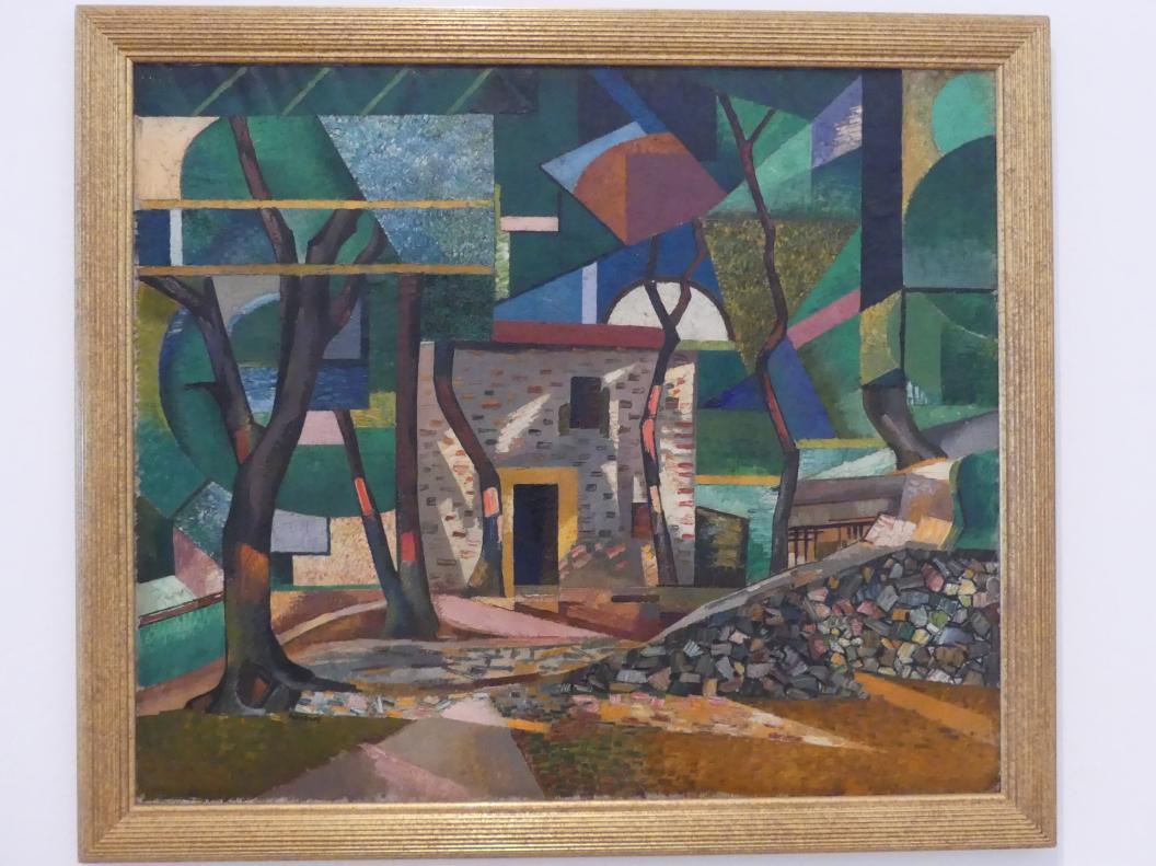Auguste Herbin: Waldweg und Haus in Céret, 1913