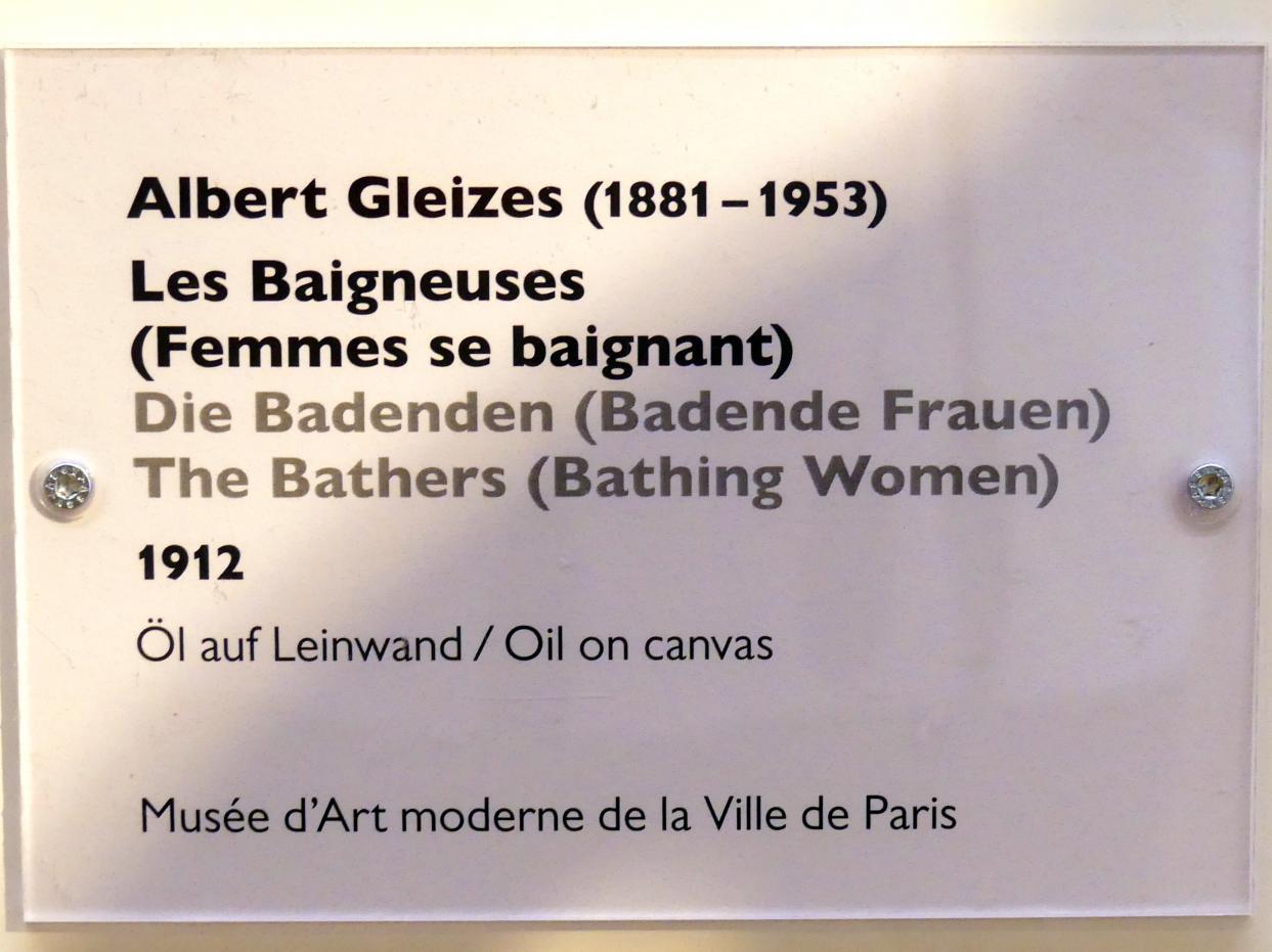 Albert Gleizes: Die Badenden (Badende Frauen), 1912, Bild 2/2