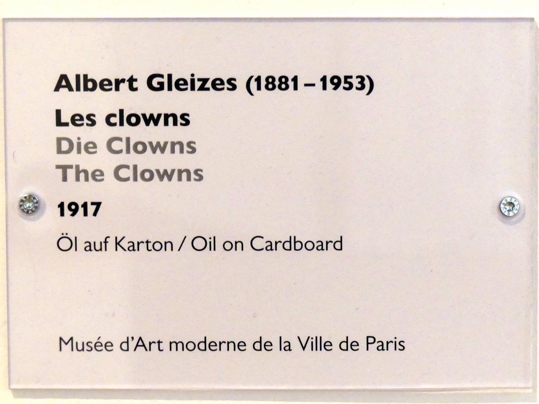 Albert Gleizes: Die Clowns, 1917, Bild 2/2