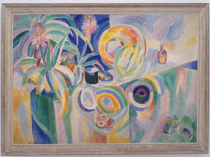 Robert Delaunay: Farbige Sinfonie (Portugiesisches Stillleben), 1915 - 1917