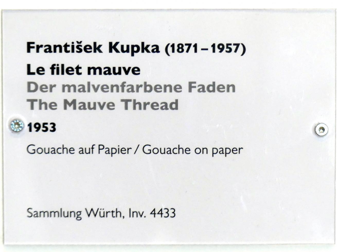 František Kupka: Der malvenfarbene Faden, 1953, Bild 2/2