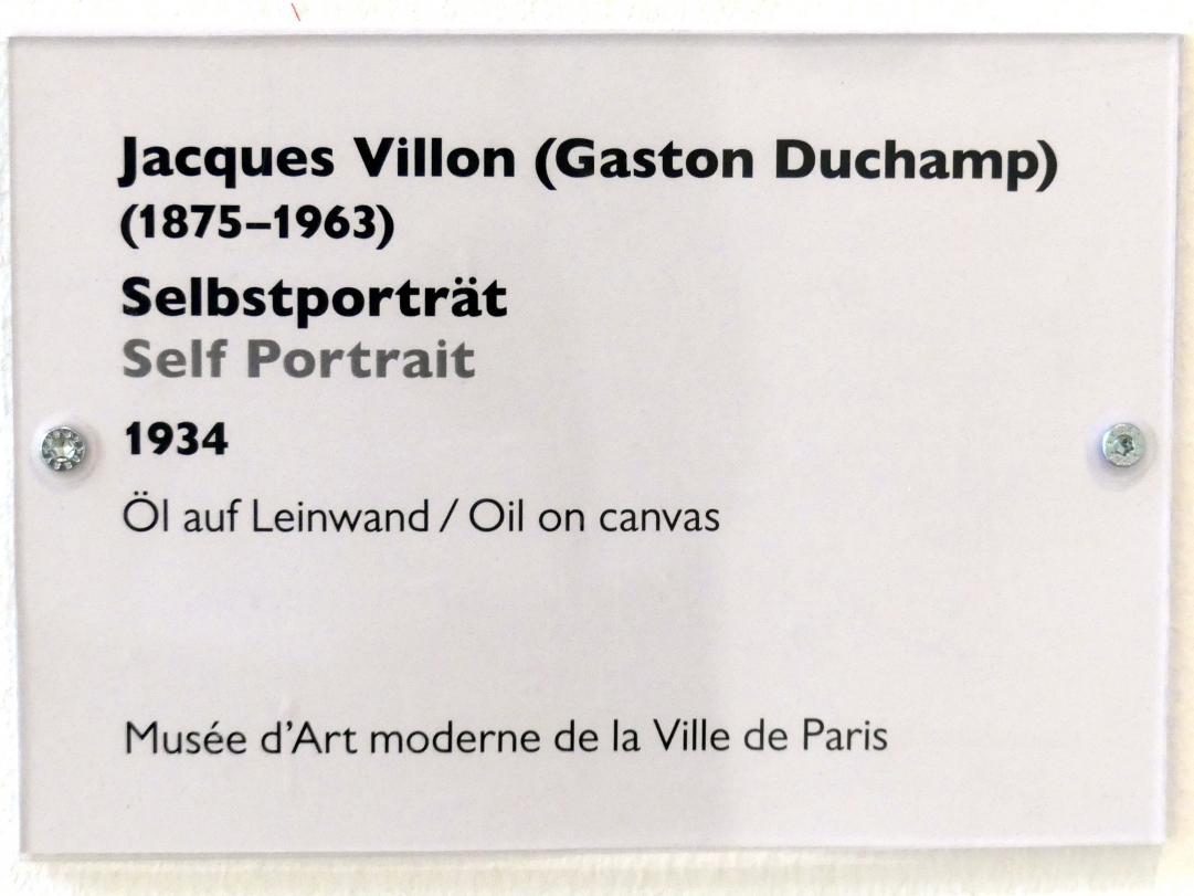 Jacques Villon: Selbstportrait, 1934, Bild 2/2