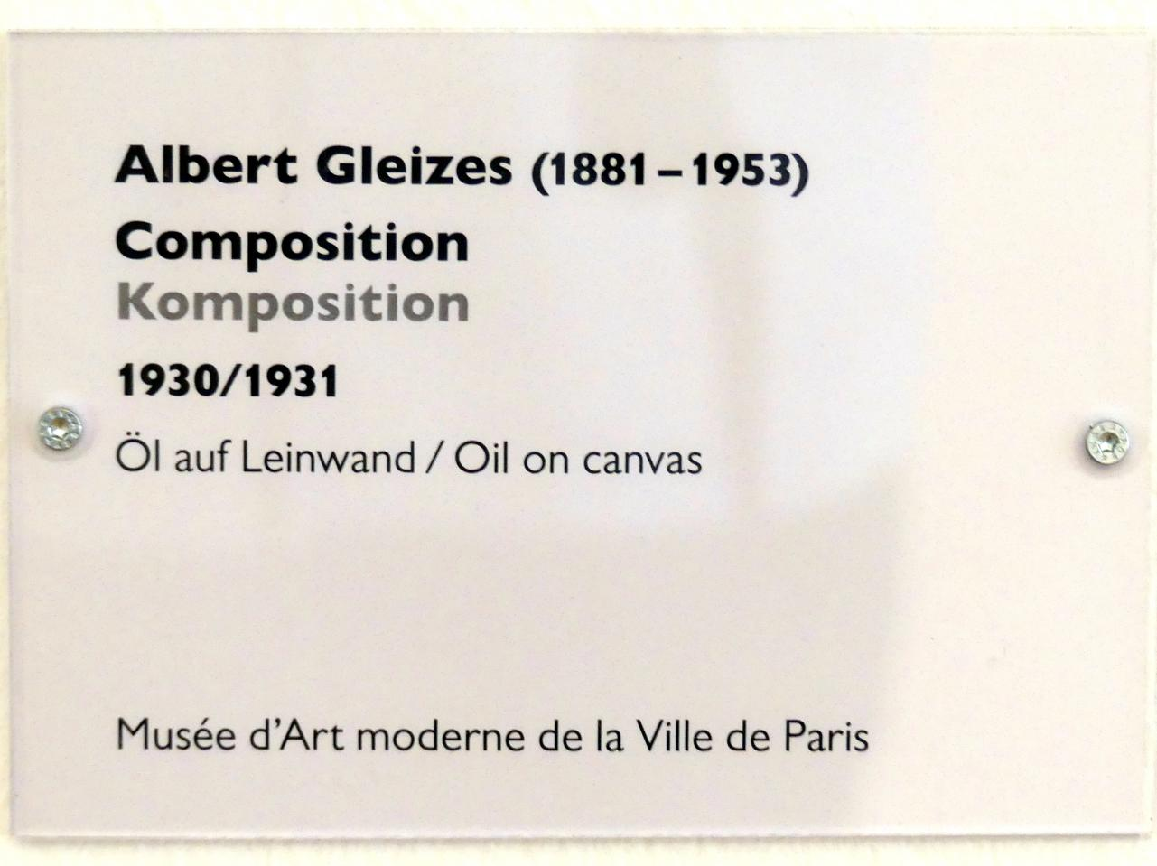 Albert Gleizes: Komposition, 1930 - 1931, Bild 2/2