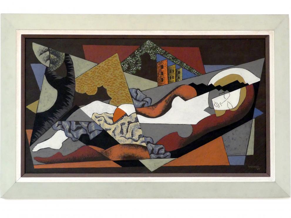 Léopold Survage: Frau liegend (Die große Badende), 1922
