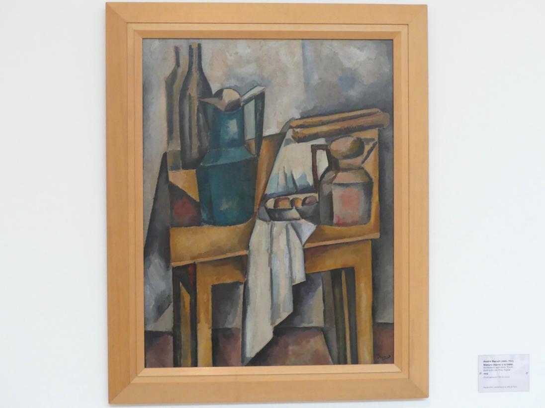 André Derain: Stillleben auf dem Tisch, 1910
