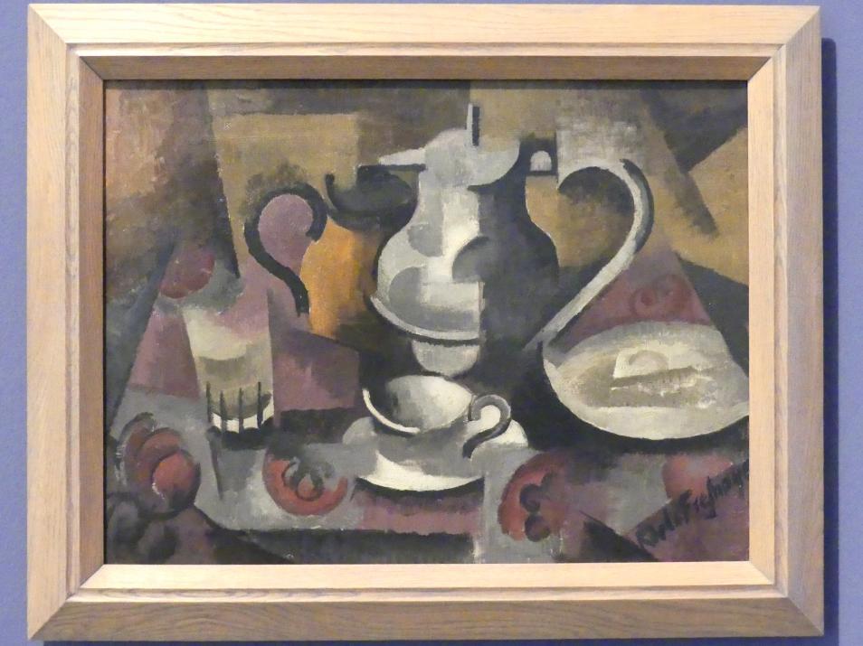 Roger de La Fresnaye: Stillleben mit drei Henkeln, 1912
