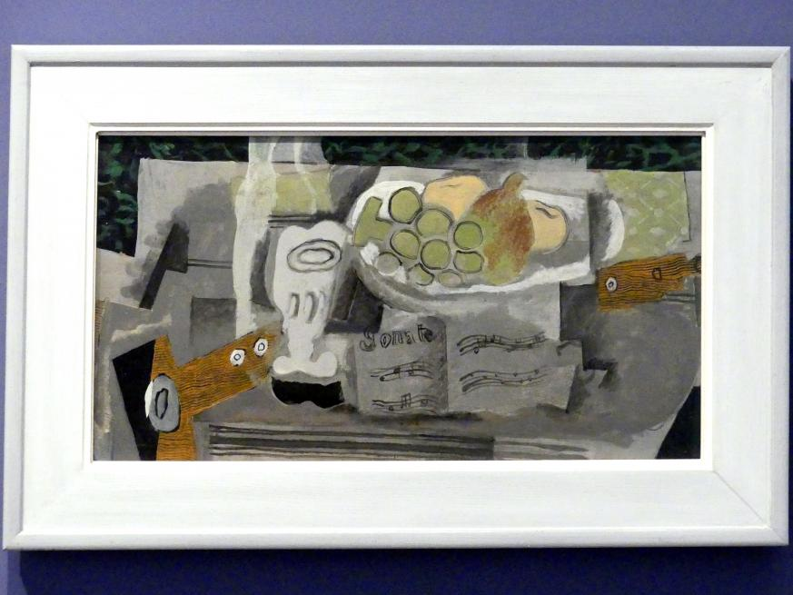Georges Braque: Stillleben mit Sonate, 1921