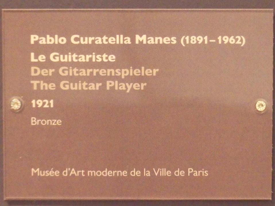 Pablo Curatella Manes: Der Gitarrenspieler, 1921
