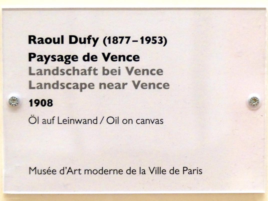 Raoul Dufy: Landschaft bei Vence, 1908, Bild 2/2