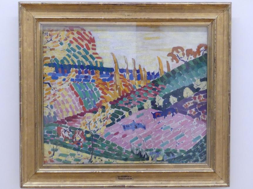 Robert Delaunay: Landschaft mit Kühen, 1906