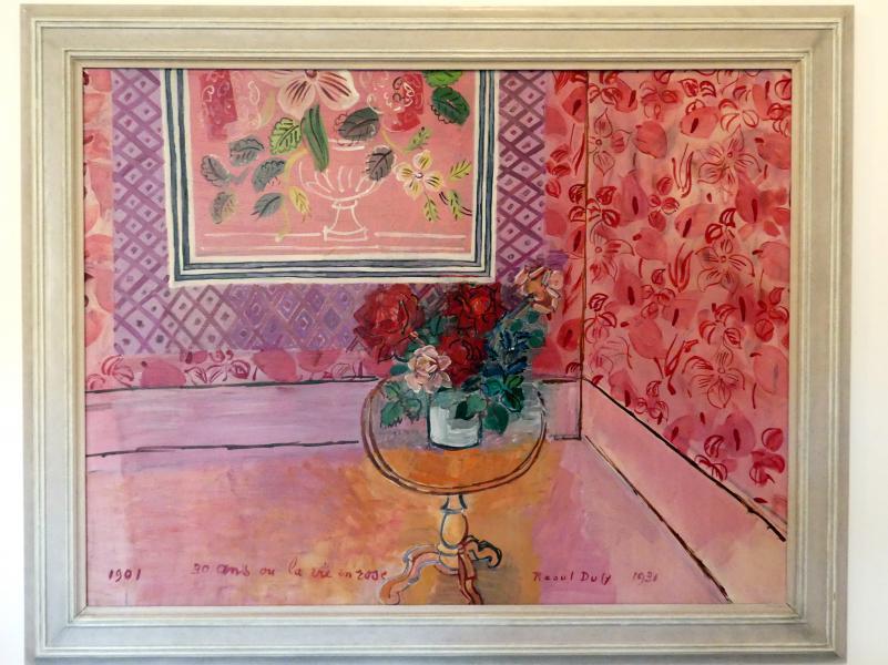 """Raoul Dufy: 30 Jahre oder """"La vie en rose"""", 1931"""