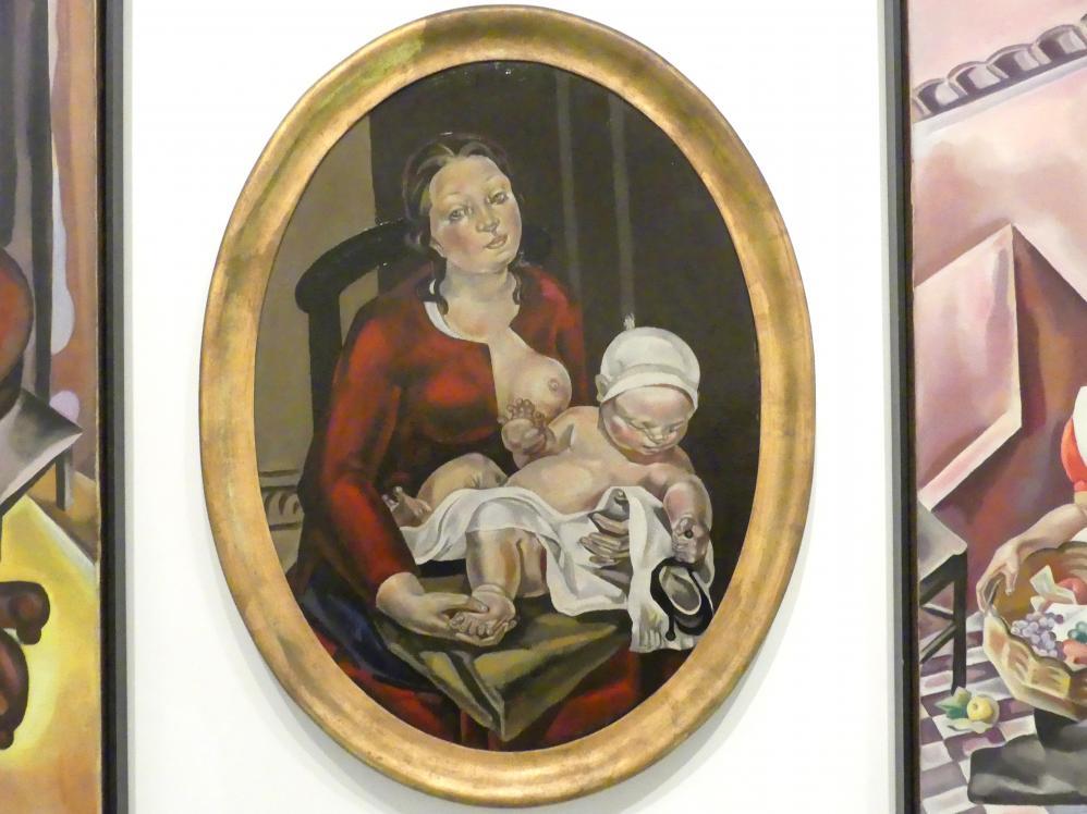 María Gutiérrez Blanchard: Mutterschaft (Oval II), um 1922