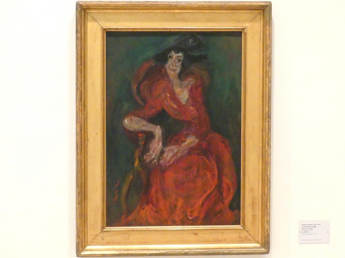 Chaïm Soutine: Die Frau in Rot, um 1923 - 1924