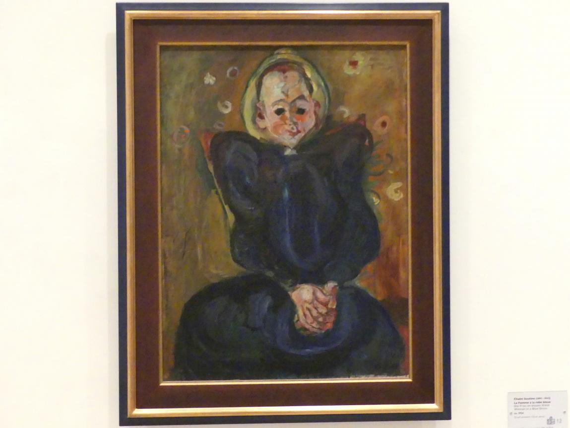 Chaïm Soutine: Die Frau im blauen Kleid, um 1924
