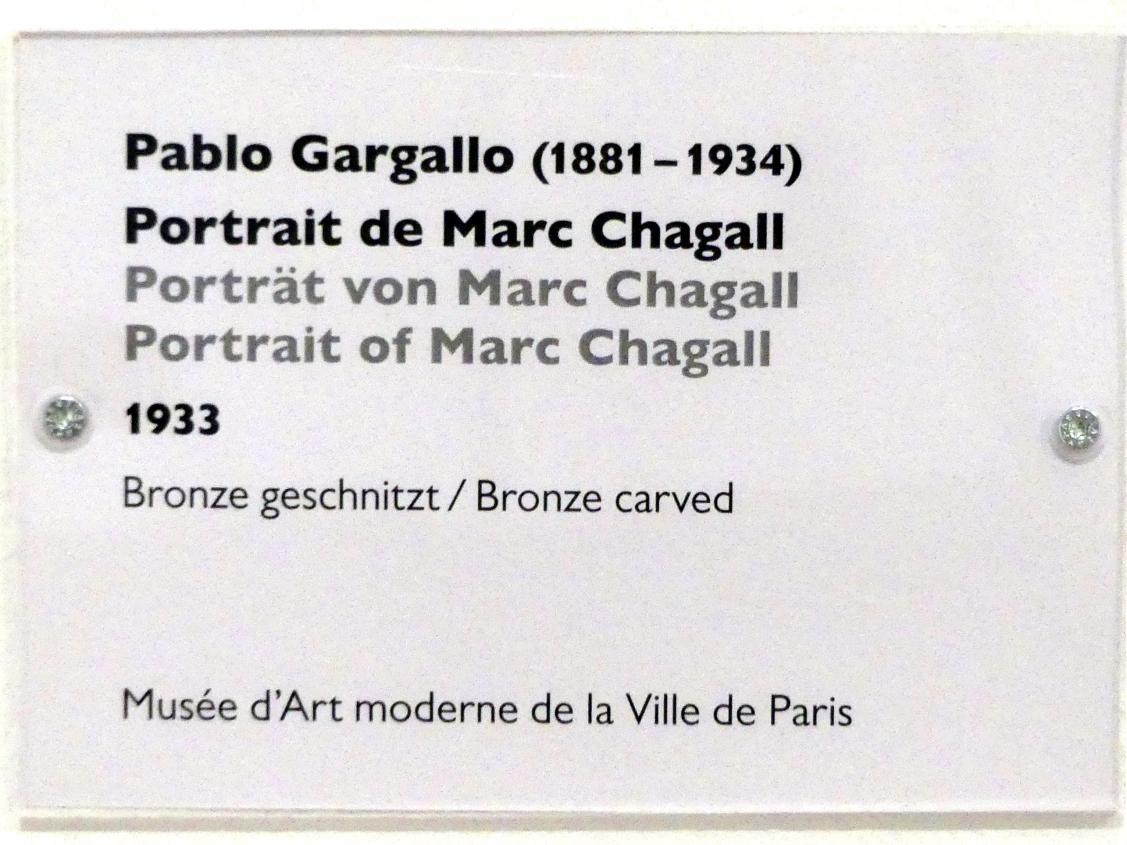 Pablo Gargallo: Porträt von Marc Chagall, 1933