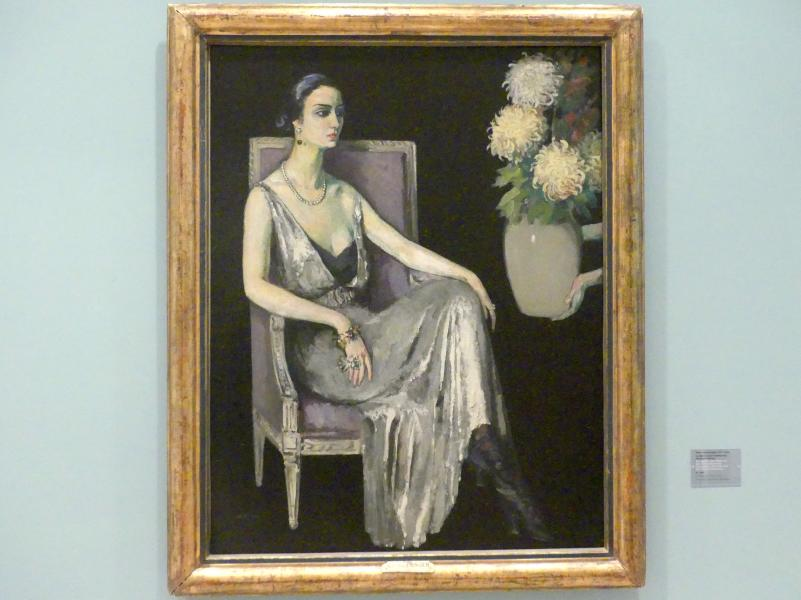 Kees van Dongen: Die Sphinx (Die Dame mit den Chrysanthemen), um 1925