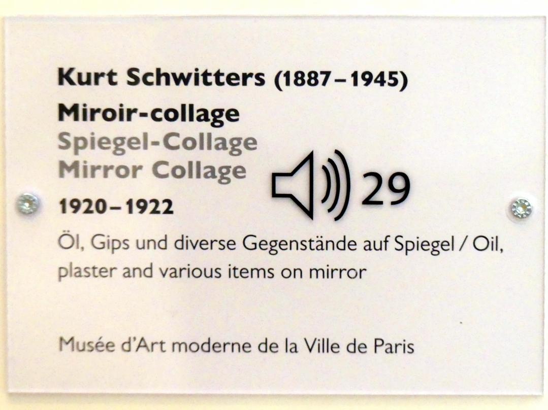Kurt Schwitters: Spiegel-Collage, 1920 - 1922