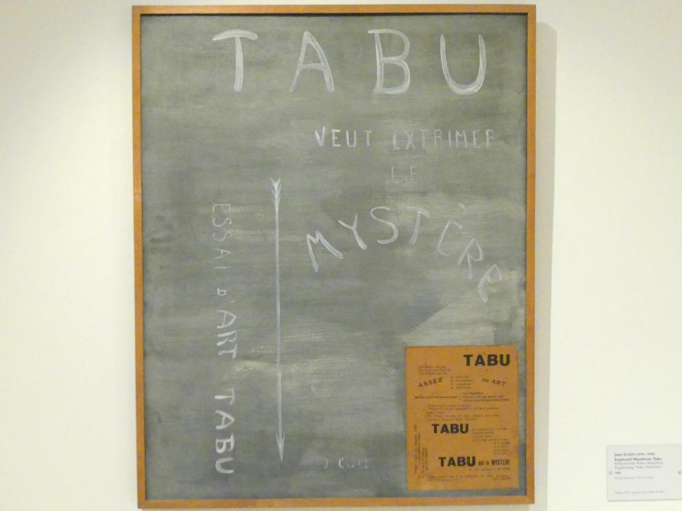 Jean Crotti: Erläuternd / Tabu-Manifest, 1921