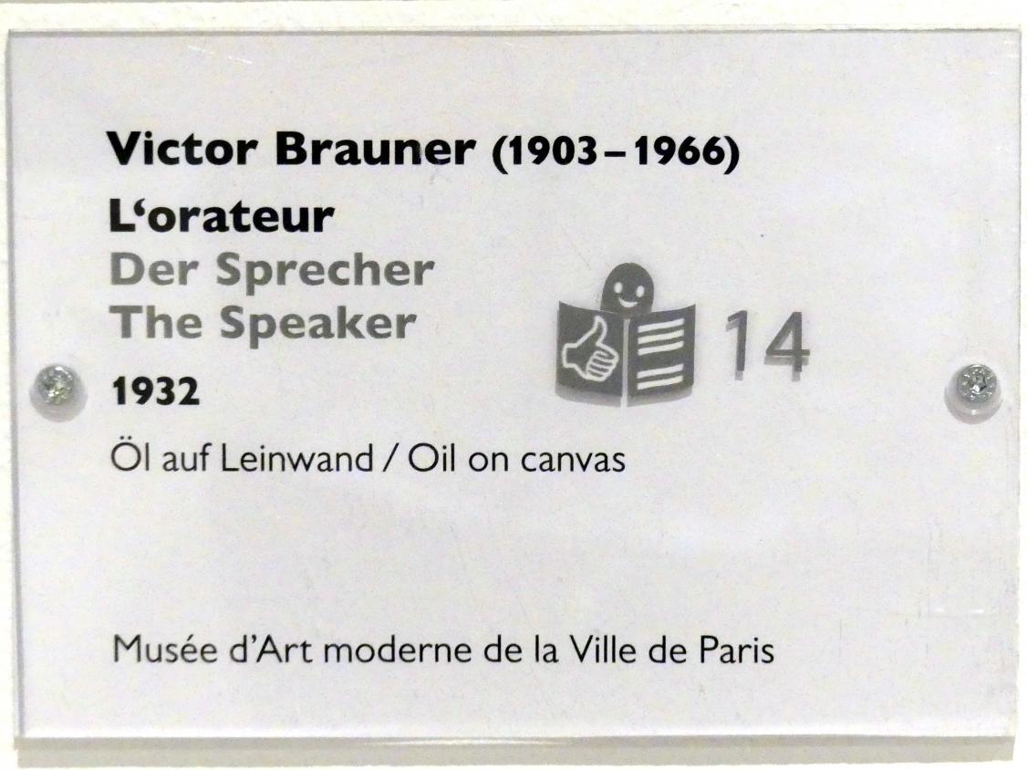Victor Brauner: Der Sprecher, 1932