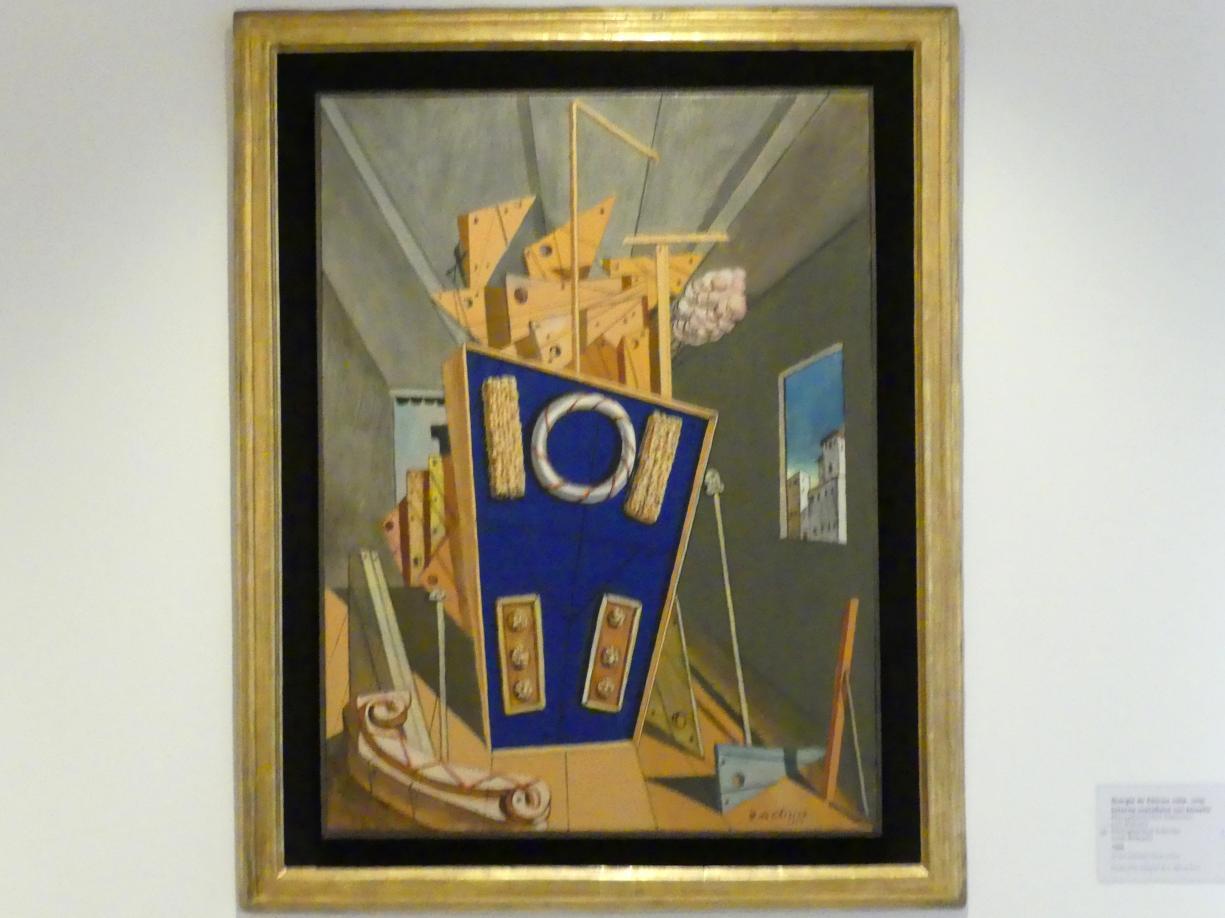 Giorgio de Chirico: Metaphysisches Interieur mit Keksen, 1968