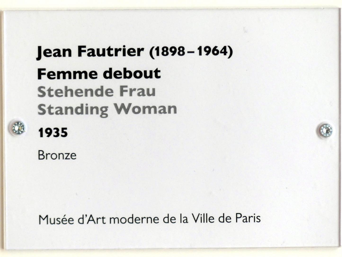 Jean Fautrier: Stehende Frau, 1935, Bild 5/5