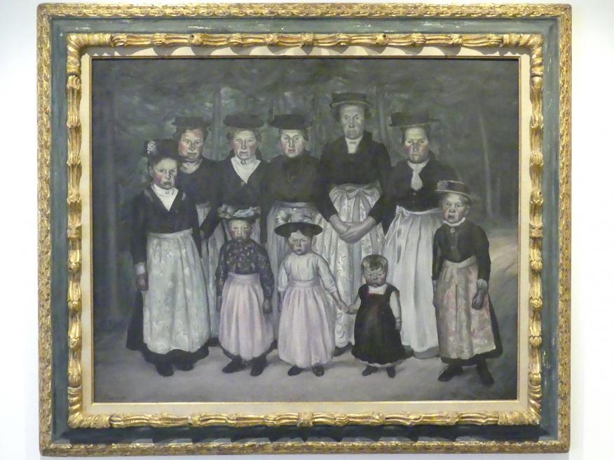 Jean Fautrier: Der Sonntagsspaziergang in Tirol (Tirolerinnen in Sonntagstracht), 1921 - 1922