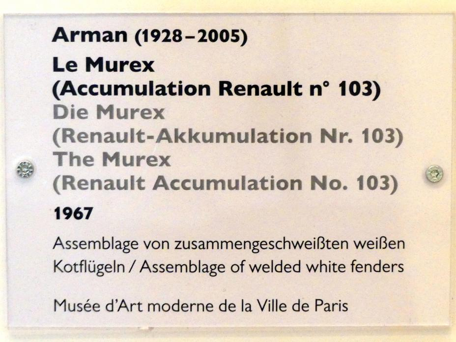 Arman: Die Murex (Renault-Akkumulation Nr. 103), 1967, Bild 3/3