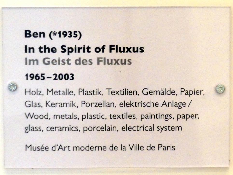 Ben Vautier: In the Spirit of Fluxus - Im Geist des Fluxus, 1965 - 2003, Bild 5/5