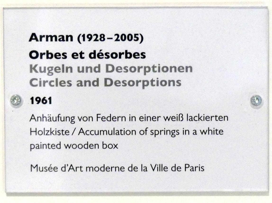 Arman: Kugeln und Desorptionen, 1961, Bild 2/2