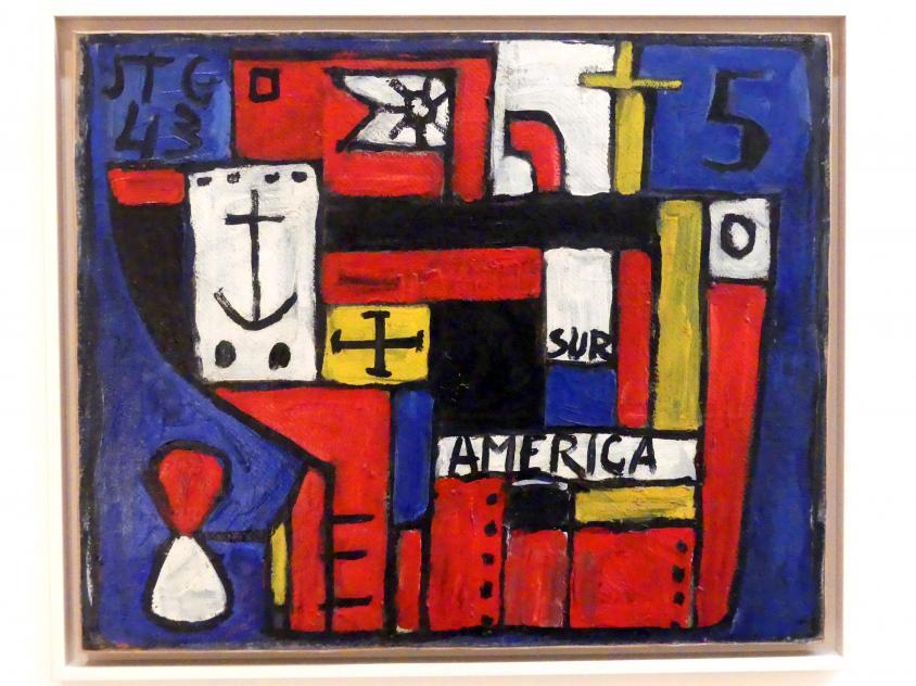 Joaquín Torres García: Rotes, konstruktives Schiff, 1943