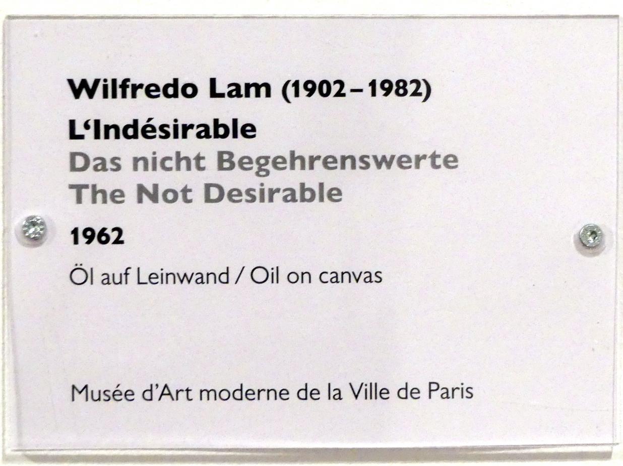 Wifredo Lam: Das nicht Begehrenswerte, 1962, Bild 2/2