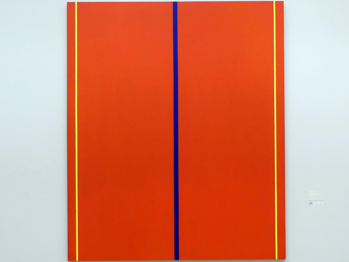 Barnett Newman: Who's Afraid of Red, Yellow and Blue II - Wer hat Angst vor Rot, Gelb und Blau II, 1967
