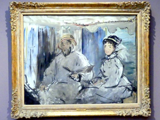 Édouard Manet: Der Maler Monet in seinem Atelier, 1874