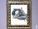 Paul Cézanne: Stillleben mit Totenkopf und Leuchter, Um 1900