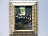 Max Liebermann: Nähstube, Um 1890