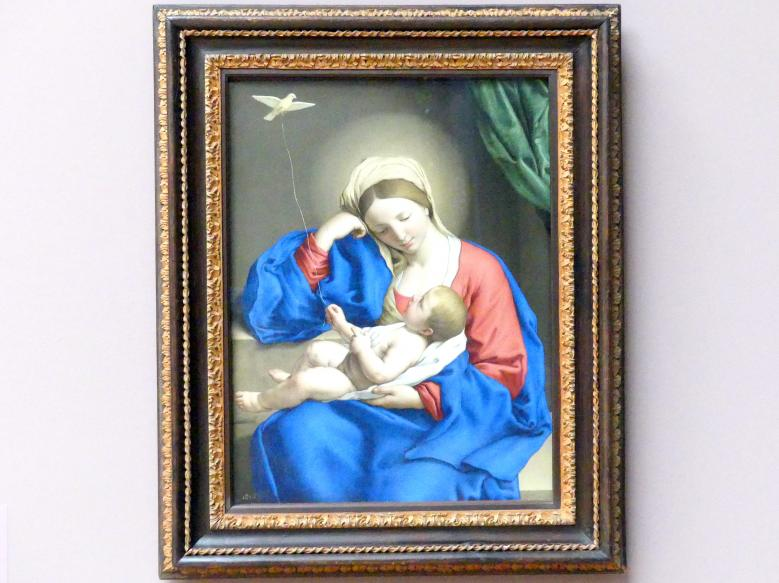 Giovanni Battista Salvi (Sassoferrato): Madonna mit dem Kinde, um 1650