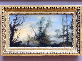 Cecco Bravo (Francesco Montelatici): Landschaft mit bizarren Bäumen und einem Angler, Um 1630 - 1640